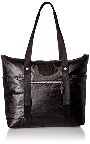 Kipling Kim Lacquer Black Sport Tote, lacqrblack (Kipling Handbags On Sale)