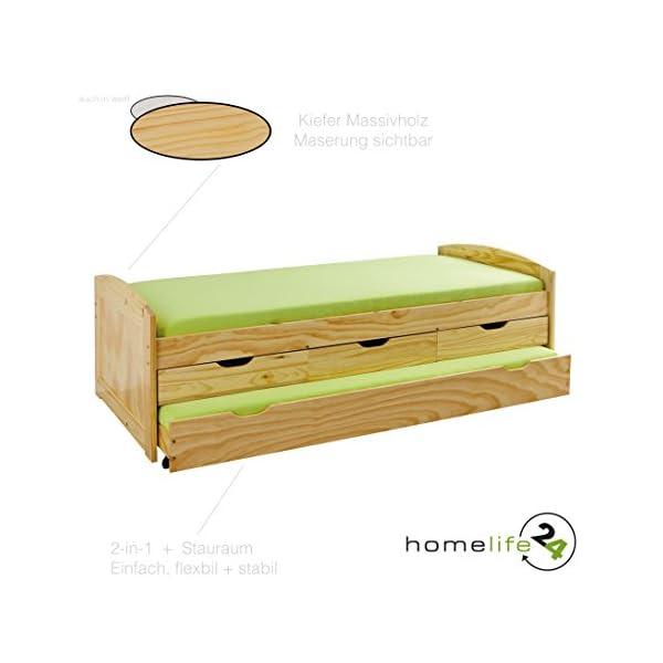 jugendbett mit g stebett und schubladen. Black Bedroom Furniture Sets. Home Design Ideas