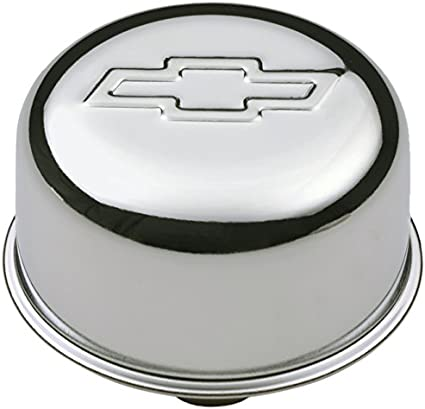 PROFORM 141-616 Chrome Bow Tie Valve Cover Air Breather Cap Push-In for Chevy