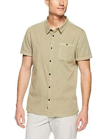 Mossimo Men's Sandpiper SS Shirt, Desert Sand(Beige), S(Small)