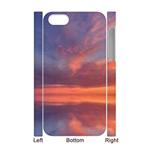Custom New Case for Iphone 4,4S 3D, Sunset Cloud Phone Case - HL-697259