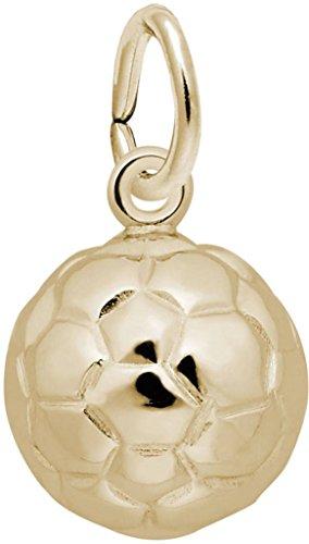 Rembrandt Soccer Ball Charm - Metal - 10K Yellow -