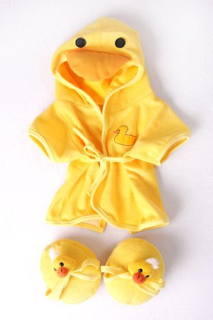 Bear Pajamas (Duck Robe & Slippers Pajamas Outfit Teddy Bear Clothes Fit 14