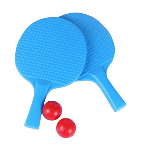 Children Table Tennis Racket Leisure Sports Toy Set-Blue by DRAGON SONIC
