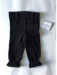 Baby Black Knit Pants, 3-6M