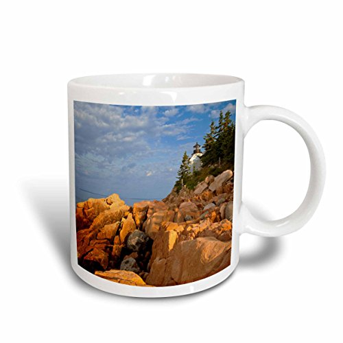 3dRose Bass Harbor Lighthouse, Acadia National Park Maine, Chuck Haney, Ceramic Mug, 15-Oz