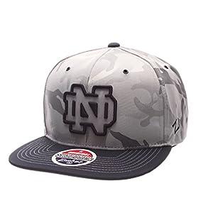 half off a13cb 48601 Zephyr NCAA Notre Dame Fighting Irish Adult Men s Brigade Snapback Hat,  Adjustable Size, Gray Camo Team Color
