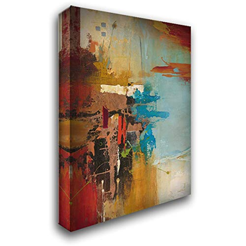 Aqua Illusion 1 34x52 Extra Large Gallery Wrapped Stretched Canvas Art by Villarreal Villarreal, Gabriela
