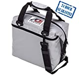 AO Coolers Sportsman Vinyl Soft Cooler with High-Density Insulation, Silver, 24-Can