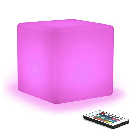 Multi Purpose Timer Module (Prosshop 6 Inch Rechargeable LED Cube Light Multi-Color Cordless Mood Night Lamp with Remote Control RGB Color Changing Best for Outdoor Indoor Bedroom Ambient Decoration)