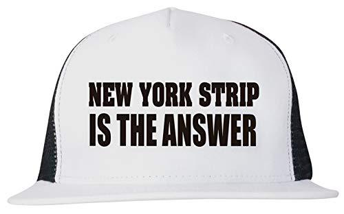 - New York Strip is The Answer Unisex Trucker Hat Cap Adjustable
