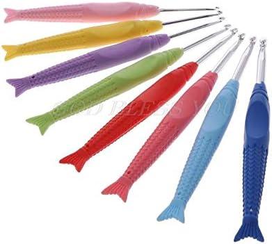 8Pcs One Color punto tejer hilado de Ganchos de ganchillo Agujas Set Kit Con Estuche Herramienta