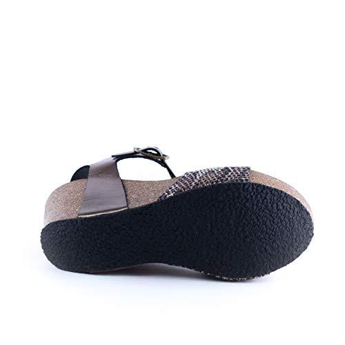Plakton Bronzo sandali Sabot Sabot Donna sandali Donna Plakton rxwrqg0PB