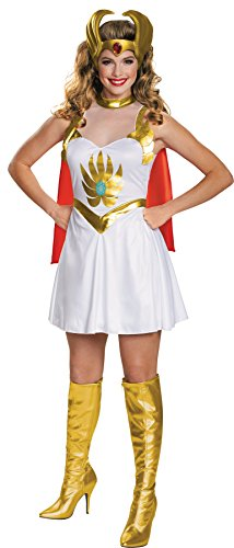 She Ra Outfit (UHC Princess of Power She-Ra Outfit Movie Theme Fancy Dress Halloween Costume, L (12-14))