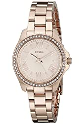 Fossil Women's AM4578 Cecile Small Rose Gold-Tone Stainless Steel Watch