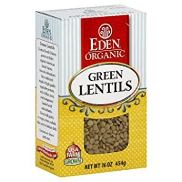 Amazon.com : EDEN FOODS Green Lentils, 16 OZ : Food Coloring ...