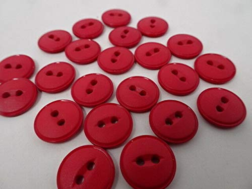 JumpingLight Vintage Lipstick Red Round 2-Hole Buttons w/Depressed Border 15mm Lot of 4 AA52 Perfect for Crafts, Scrap-Booking, Jewelry, Projects, Quilts