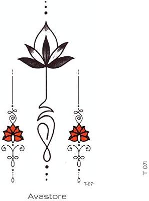 Avastore - Tatuaje temporal, diseño de flor de jasmín: Amazon.es ...