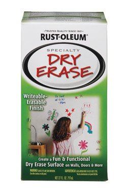 Rustoleum 241140 2 Pack 27 oz. Specialty Dry Erase Paint Kit, White