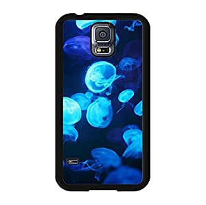 Samsung Galaxy S5 I9600 3D Mobile Shell Handy Dynamic Snap on Samsung Galaxy S5 I9600 Jellyfish Playing In The Water Pattern Cell Shell