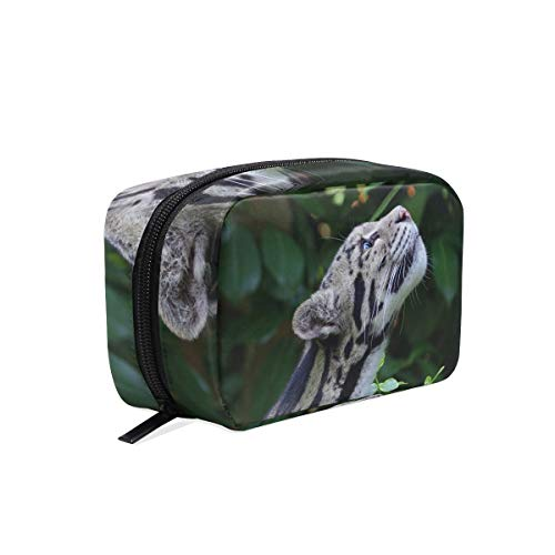 Cosmetic Makeup Bag Pouch Clouded Leopard Wild Cat Snout Spotted Clutch