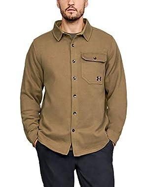 Men's Fleece Button-Down Shirt