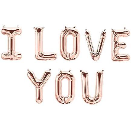 DCUK ROSE GOLD HAPPY VALENTINE LOVE or I LOVE YOU Letter Balloons – 16″ Rose Gold – UK SELLER 41fHyjnE9bL