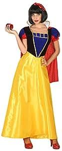 Atosa-39376 Disfraz Princesa de Cuento Color Amarillo M-L (39376