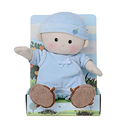 Apple Park Plush Organic Baby Boy With Cubby Booties