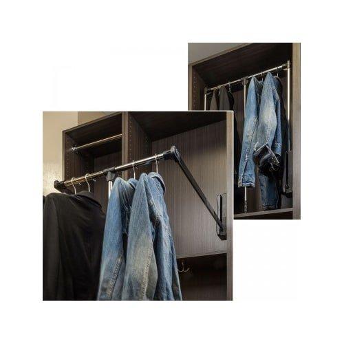 Wardrobe Lift - Chrome and Black 25-1/2