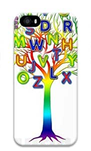 Alphabet Tree for Iphone 5 5s 3D Case