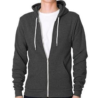 0ea60c3e09e3 Raiken Apparel Flex Fleece Full Zip Hoody Hooded Top Hoodie Mens Size XXL  CHARCOAL  Amazon.co.uk  Clothing