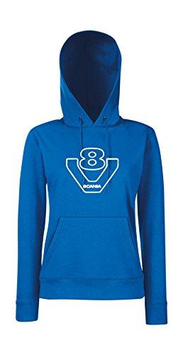 Textilmonster - Sudadera con capucha - para mujer Azul
