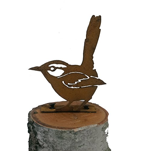 Elegant Garden Design House Wren, Steel Silhouette with a Rusty Patina