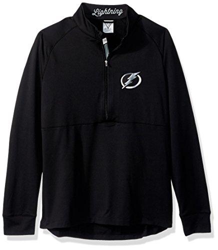 (Levelwear LEY9R NHL Tampa Bay Lightning Women's Harmony Insignia Banner Stripe Half Zip Mid-Layer Apparel, Medium, Black)