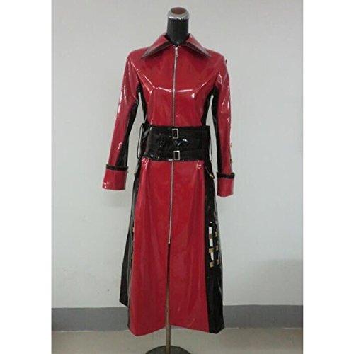 Xjapan hide 赤黒ロング 細身 エナメルコート コスプレ衣装コスチューム 変身 仮装 ステージ服 舞台 ハロウィン クリスマス