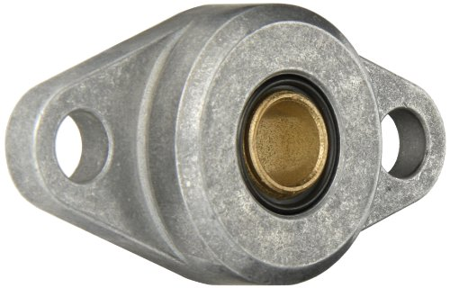 Spyraflo HF3-12M-B Self-Aligning, SAE-840 Oil Impregnated Bronze Bearing With Aluminum 2-Bolt Hole, 12 mm Inner-Diameter - Inner Flange Diameter Housing