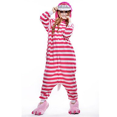 [QINF New Cosplay Cheshire Cat Polar Fleece Adult Kigurumi Pajama] (Cheshire Cat Makeup And Costume)