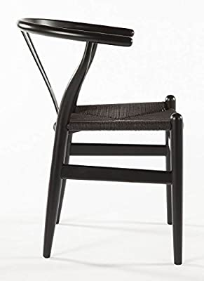 The Wishbone Chair   Black/Black Strings