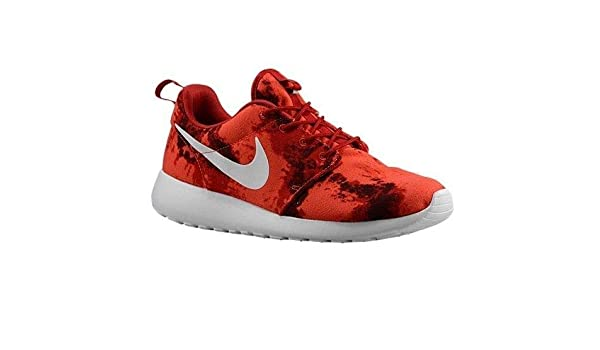 buy popular 6034f 40040 Amazon.com   NIKE Roshe One Print (13, Gym Red Deep Burgundy-White)   Road  Running