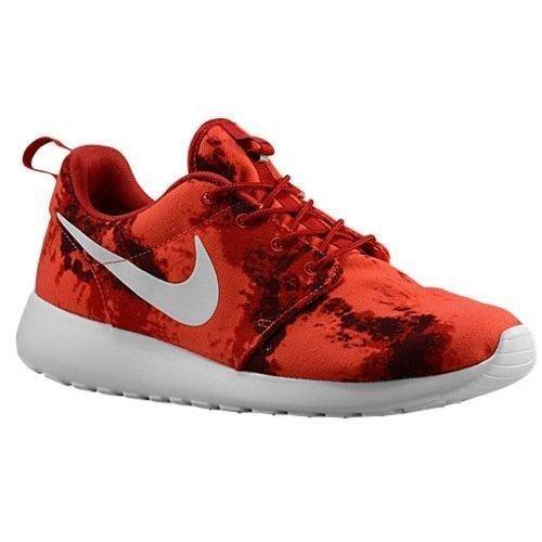 Nuovo Nike Mens Roshe Casual Elegante Scarpa Da Ginnastica Palestra Rosso / Profondo Bordeaux-bianco