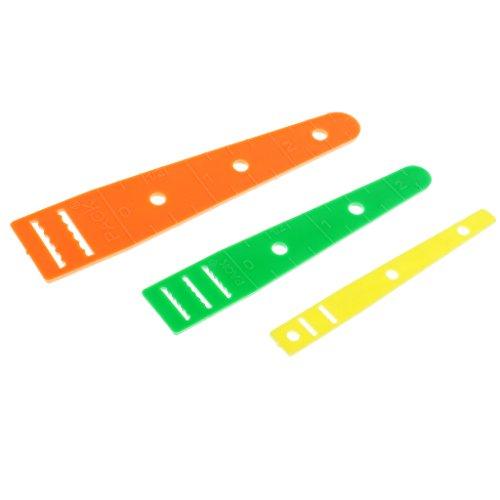 SM SunniMix 3 Pieces Plastic Sewing Elastic Threader Guides Wear Elastic Band String Rope DIY Tools ()