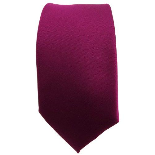 étroit TigerTie cravate violet bordeaux-violet unicolor - Pochette 100 % Polyester - Tie