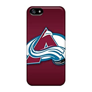 Shock-Absorbing Cell-phone Hard Covers For Iphone 5/5s (LEo6425qCmL) Custom Stylish Colorado Avalanche Pattern