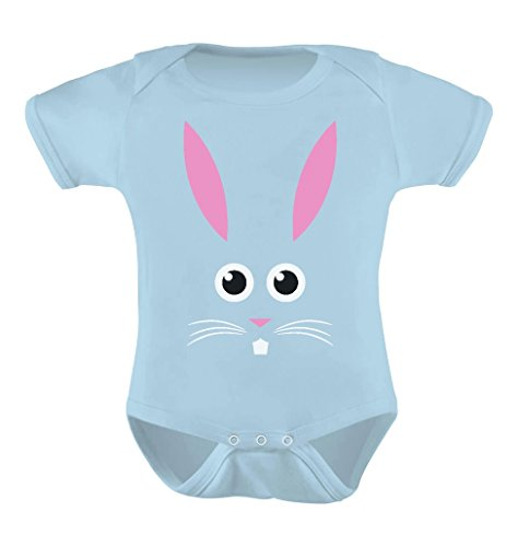 Tstars Little Bunny Easter Holiday Baby Boy/Girl - Very Cute Baby Bodysuit 12M Aqua