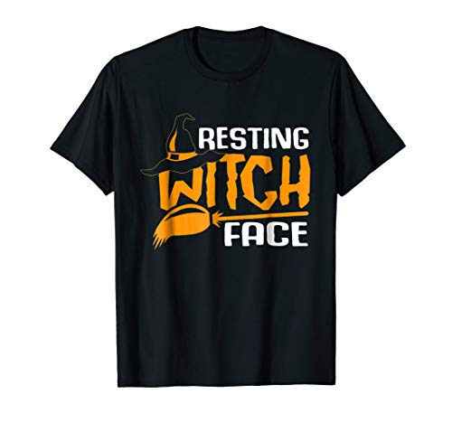 Resting Witch Face Halloween T-shirt Costume Gift