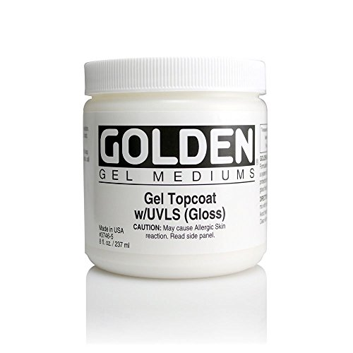 Golden Artist Colors 8 Oz Topcoat Gel Gloss Varnish