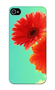 Anettewixom Ultra Slim Fit Hard Case Cover Specially Made For Iphone 5/5s- Gerbera