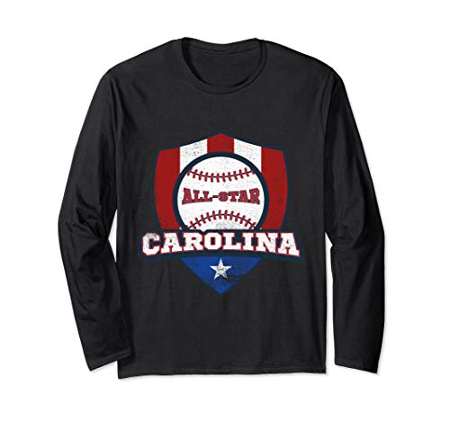 Carolina Puerto Rico Camisa PR Baseball Long Sleeve Shirt ()
