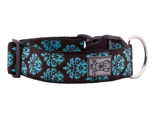 RC Pet Products 1-1/2-Inch Wide Dog Clip Collar, Large, Modern Damask